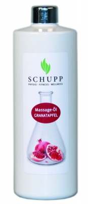 SCHUPP MASSAGE-ÖL GRANATAPFEL 500 ml + 1 Spender Paraffinfrei