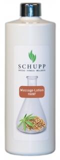 Schupp Massage-Lotion Hanf 500 ml + Spender