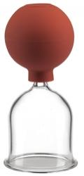 Schröpfglas / Saugglocke aus Glas mit Ball 50 mm