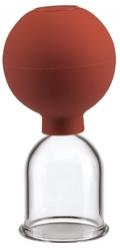 Schröpfglas / Saugglocke aus Glas mit Ball 40 mm