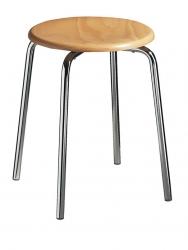 Gymnastikhocker mit Holzsitz, H ca. 47 cm