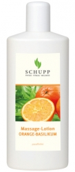 Schupp Massagelotion ORANGE-BASILIKUM 6 x 1000 ml + 1 Spender Paraffinfrei