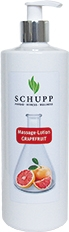 Schupp Massagelotion GRAPEFRUIT 500 ml Paraffinfrei + 1 Spender